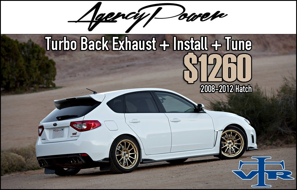 Agency Power Subaru Turbo Back Exhaust Package