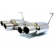 Agency Power Catback Exhaust Polished Quad Tips Subaru WRX / STi Sedan 2011-2013