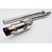 Invidia Titanium Tip Racing Cat Back Exhaust Single Exit Subaru WRX Sedan 2008-2011 / STI Sedan 2011